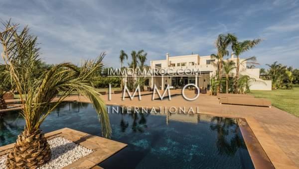 villa achat Marocain épuré biens de prestige Marrakech Palmeraie Bab Atlas