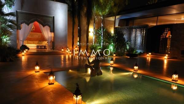 Villa à vendre Marocain Marrakech Palmeraie Circuit Palmeraie