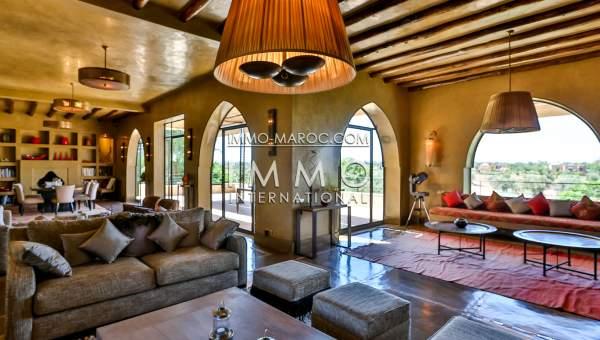 Villa à vendre Marocain épuré Marrakech Golfs Amelkis
