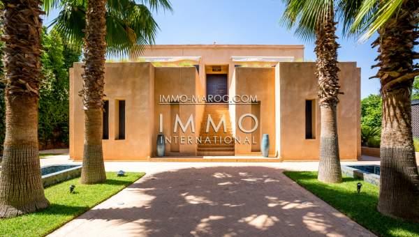 Vente villa Marocain épuré Marrakech Golfs Amelkis