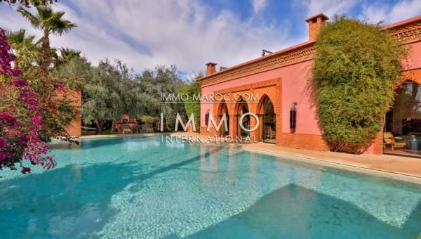 Villa à vendre Marocain luxe Marrakech Golfs Amelkis