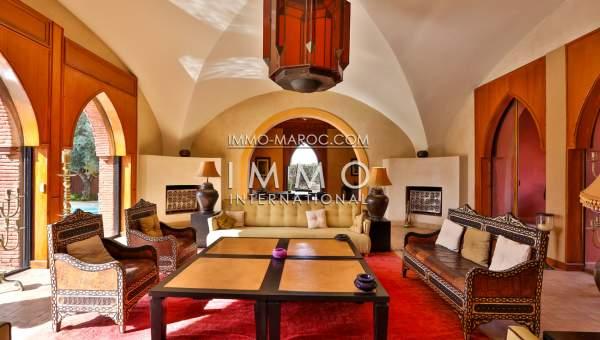 Achat villa Marocain biens de prestige marrakech Marrakech Golfs Amelkis