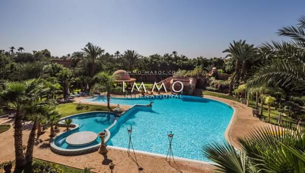 Villa à vendre Marocain prestige Marrakech Palmeraie Circuit Palmeraie