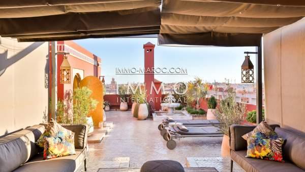 appartement de luxe a vendre marrakech, avec terrasse privée