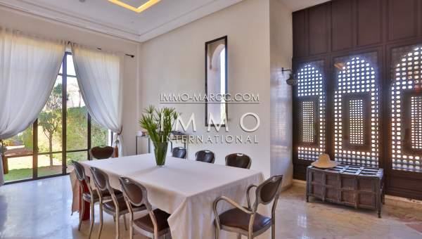 villa achat Marocain prestige a vendre Marrakech Palmeraie