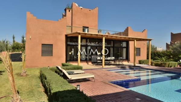 Achat villa Marocain épuré Marrakech Extérieur