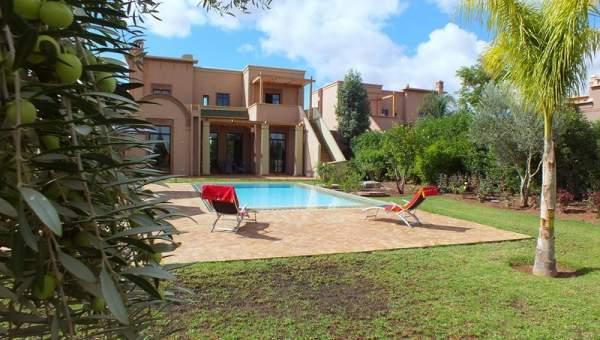 Achat villa Marocain épuré Marrakech Golfs