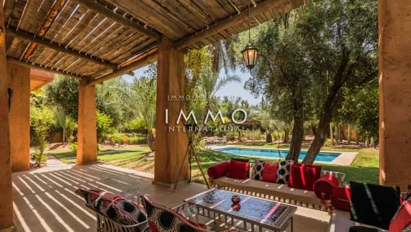 villa vente Marocain épuré Marrakech Palmeraie