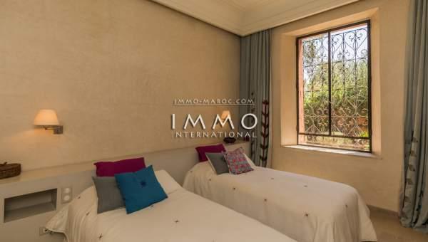 villa achat Marocain épuré Marrakech Palmeraie