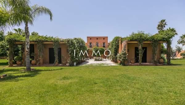 Vente maison Marocain épuré immobilier luxe à vendre marrakech Marrakech