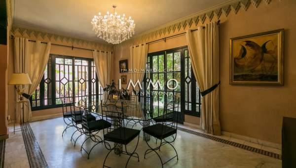 villa vente Marocain épuré Marrakech Golfs Amelkis