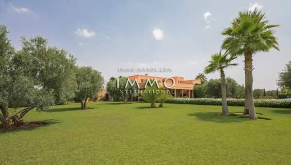 Vente villa Marocain luxe Marrakech Extérieur Route Ourika