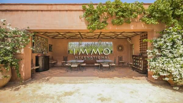 Achat villa Marocain prestige Marrakech Extérieur Route Ourika