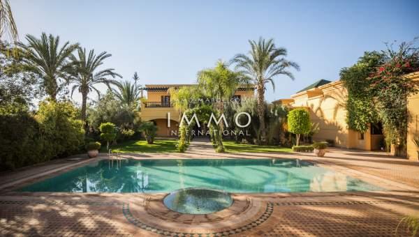 villa vente Marocain prestige Marrakech Golfs Amelkis