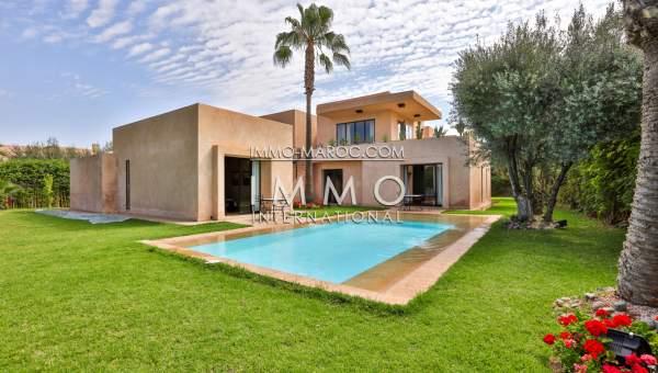 Achat villa Contemporain agence immobiliere de luxe marrakech Marrakech Golfs Amelkis