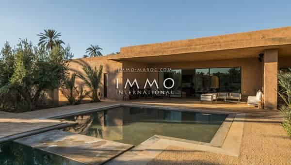villa vente Marocain épuré de prestige Marrakech Palmeraie Ksar Chargagh