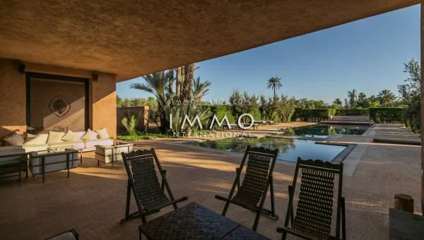 Achat villa Marocain épuré agence immobiliere de luxe marrakech Marrakech Palmeraie Ksar Chargagh