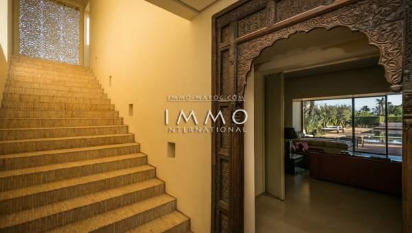 Maison à vendre Marocain épuré luxe Marrakech Palmeraie Ksar Chargagh