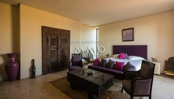 Maison à vendre Marocain épuré haut de gamme Marrakech Palmeraie Ksar Chargagh