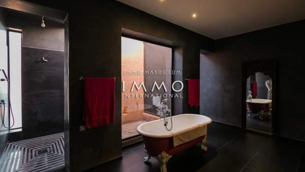 Vente villa Marocain épuré luxueuses Marrakech Palmeraie Ksar Chargagh