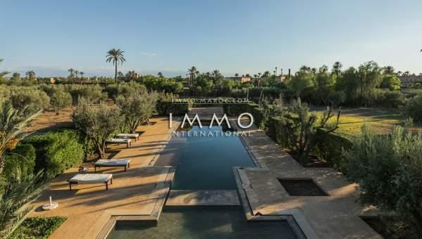 Villa à vendre Marocain épuré Marrakech Palmeraie Ksar Chargagh