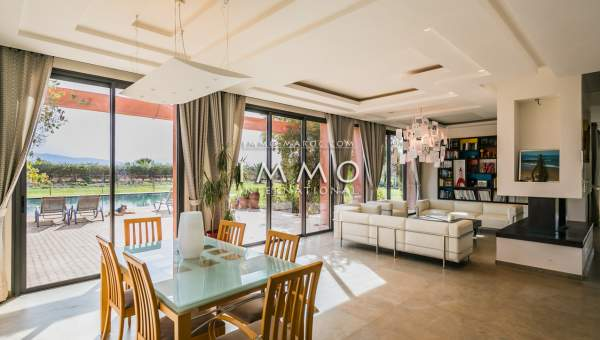 Vente villa Moderne luxe Marrakech Extérieur Route Amizmiz
