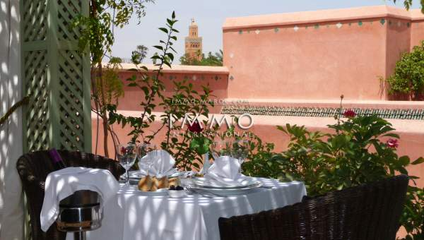 Vente riad prestige a vendre Marrakech Place Jamaa El Fna Riad Zitoun