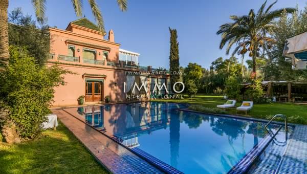 Vente maison Marocain épuré immobilier de luxe marrakech Marrakech Palmeraie Circuit Palmeraie