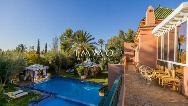 villa achat Marocain épuré haut de gamme Marrakech Palmeraie Circuit Palmeraie