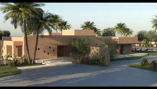 villa achat Moderne Marrakech Extérieur Route Amizmiz