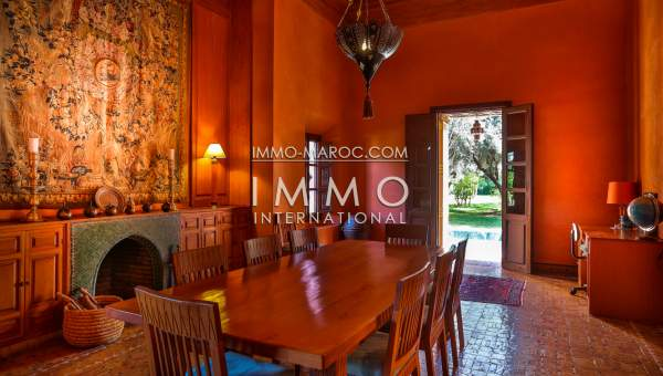 villa vente Marocain épuré luxueuses Marrakech Palmeraie Circuit Palmeraie