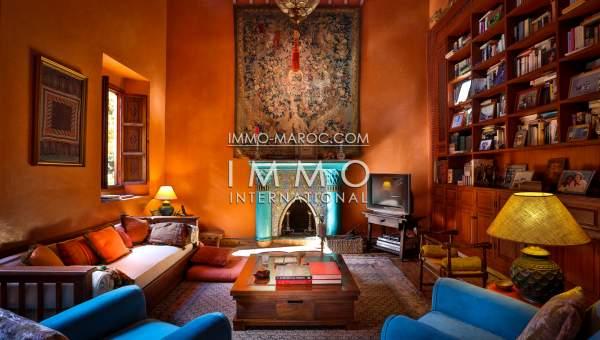 villa achat Marocain épuré propriete luxe marrakech à vendre Marrakech Palmeraie Circuit Palmeraie