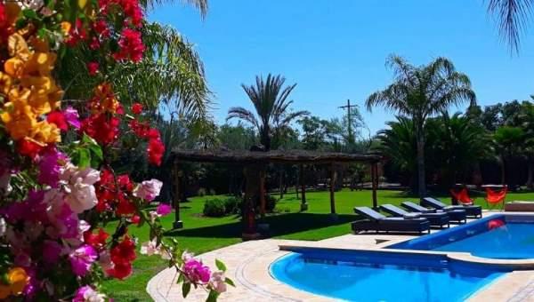 Villa à louer Marocain épuré Marrakech Extérieur Ecole américaine Route Ouarzazate