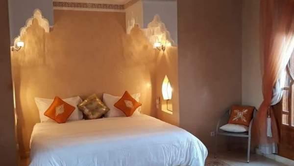 Location maison Marocain épuré Marrakech Extérieur Ecole américaine Route Ouarzazate