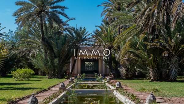 Achat villa Marocain épuré de prestige Marrakech Palmeraie Circuit Palmeraie