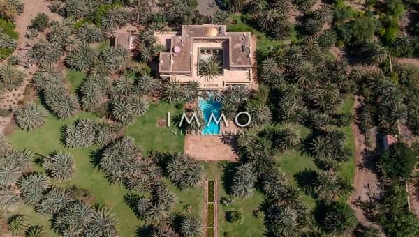 Achat villa Marocain épuré luxueuses Marrakech Palmeraie Circuit Palmeraie