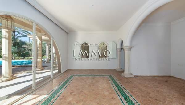 Achat villa Marocain épuré Prestige Marrakech Palmeraie Circuit Palmeraie