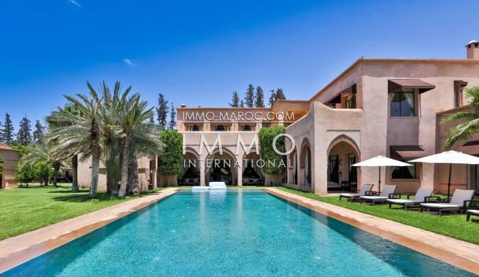 Villa à vendre Marocain Prestige Marrakech Palmeraie