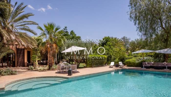 Achat villa Marocain épuré propriete luxe marrakech à vendre Marrakech Palmeraie