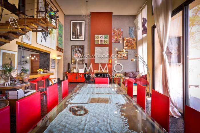 Vente maison Moderne Marocain haut de gamme Marrakech Palmeraie Circuit Palmeraie