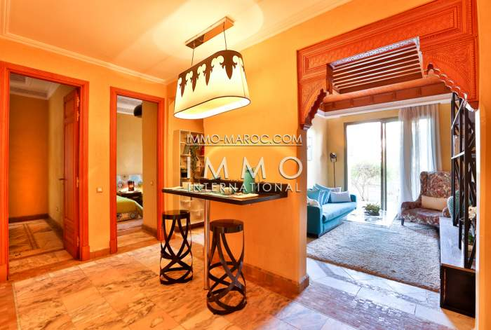 Vente appartement avec piscine et jardin à la palmeraie.