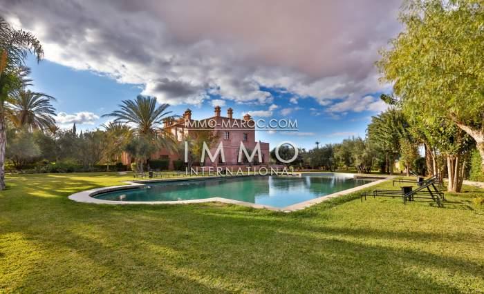 Achat villa Marocain luxe Maison d'hôtes Marrakech Palmeraie