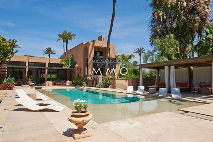 Vente villa Marocain Marrakech Palmeraie Circuit Palmeraie