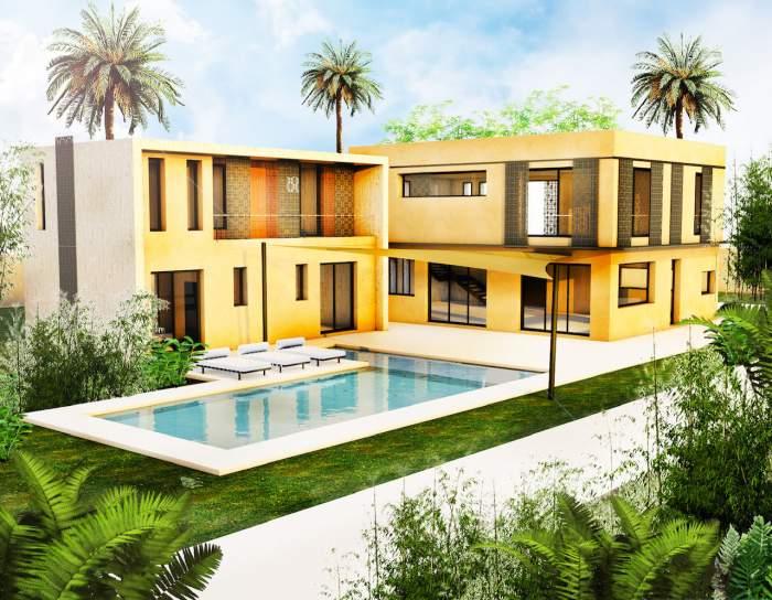 villa vente Contemporain Marrakech Extérieur Route Ouarzazate