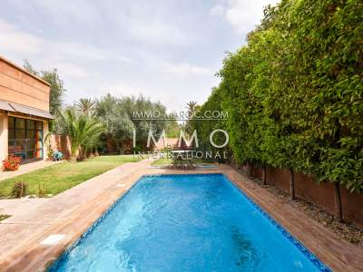 Villa à louer Marocain épuré piscine Marrakech Palmeraie Bab Atlas
