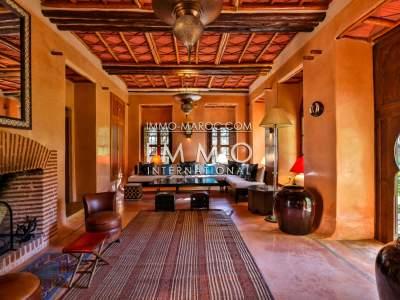 Vente maison Marocain épuré prestige Marrakech Palmeraie