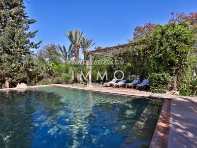 acheter maison Marocain épuré de prestige Marrakech Palmeraie