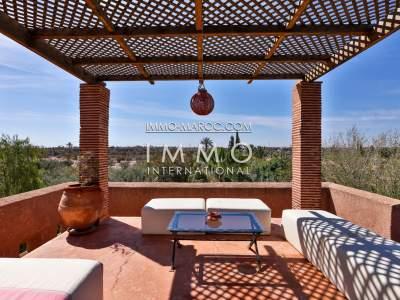Vente villa Marocain épuré haut de gamme Marrakech Palmeraie