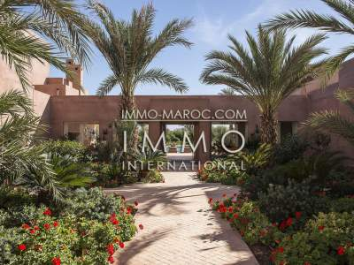 villa vente Moderne luxe Marrakech Extérieur Route Fes