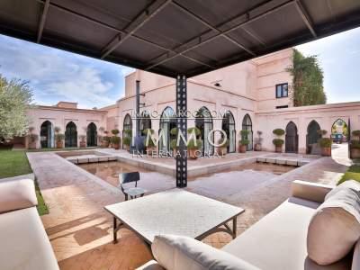 Sale house Moroccan refined prestige for sale Marrakech Palmeraie
